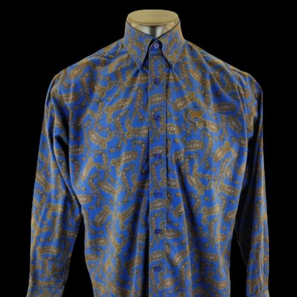 Cinch Men's Long Sleeve Button Front Shirt Med Pai